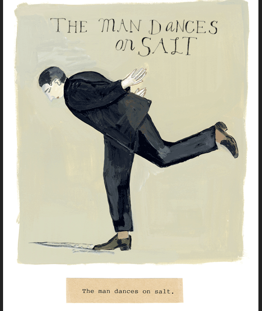 man dances on salt by maira kalman